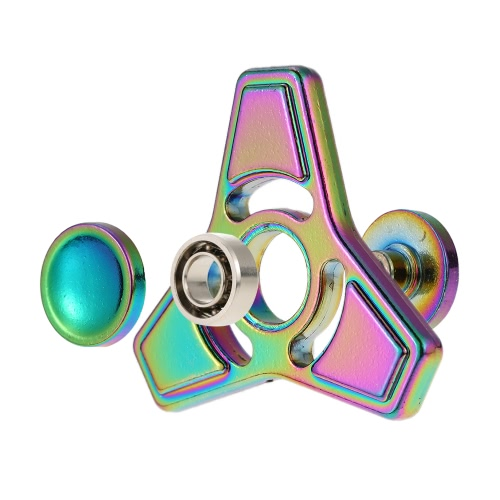 New Hot Mini Premium Metal Alloy Tri Fidget Hand Finger Spinner Spin Triangle Widget Focus Toy EDC Pocket Desktoy Gift for ADHD Children Adults Relieve Stress Anxiety Boredom Lasting for 2 to 4 Minutes