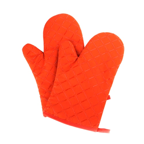 Oven Gloves Non-Slip Kitchen Oven Mitts Heat Resistant Cooking Gloves for Cooking Baking Barbecue Potholder Red Green Black Orange