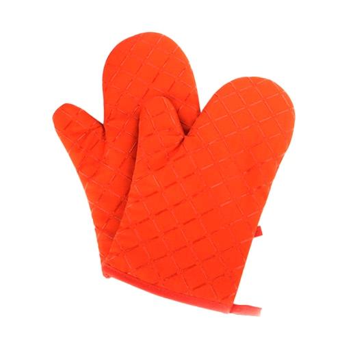Духовые перчатки Нескользящие кухонные духовки Перчатки с жаростойкими перчатками для приготовления пищи Выпечка Барбекю Потрошитель Красный Зеленый Черный Оранжевый