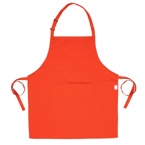 Esonmus Adults Polyester Kitchen BBQ Restaurant Apron with Adjustable Neck Belt 2 Pockets for Cooking Baking Gardening for Men Women