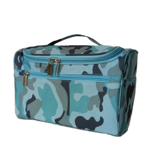 Women Travel Makeup Bag Multifunction Cosmetic Bags Polyester Fashion Waterproof Storage Toiletry Bag Organizer Men (navy blue)