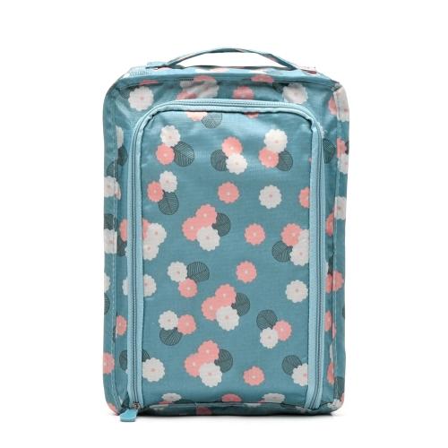 Comodo bagaglio da viaggio multifunzionale impermeabile in nylon scarpe borse organizer Scarpa smistamento borsa da tasca borse di classificazione portatile (grigio)