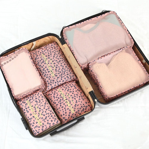 6 шт Бытовые портативные сумки для хранения в Оксфорде Сумки для путешествий Комплект для многофункциональной одежды Сортировочные пакеты Упаковка Кубики Водонепроницаемый органайзер багажа (желтая улыбка)