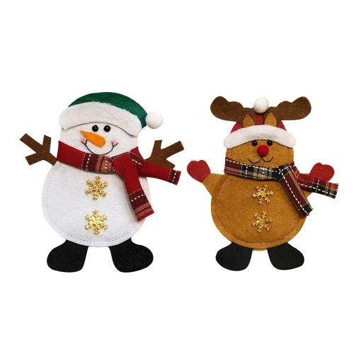 2pcs / set Рождественские столовые приборы Держатели для вилочных сумок