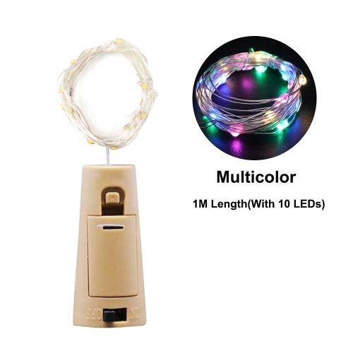1 metro 10 LED Luz de hadas de alambre de cobre