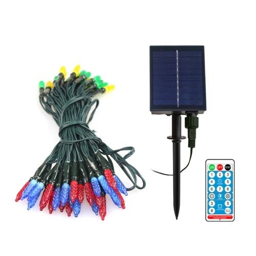 Luces solares LED de 23 pies / 50 leds