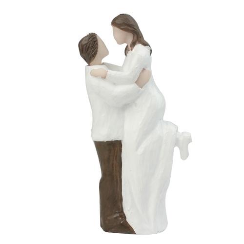 Resin Groom & Bride Couple Figurine Wedding Cake Topper фото