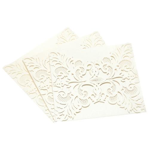 20Stk romantische Hochzeit Einladungskarte feinen geschnitzten Muster