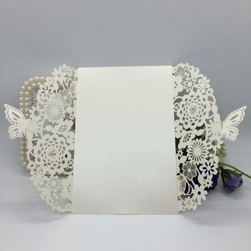 20ST romantische Hochzeit Einladungskarte zart geschnitzt Blumen dekoration