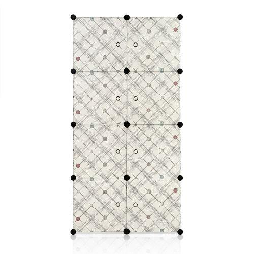 iKayaa Armoire modulable 8 cubes rangement