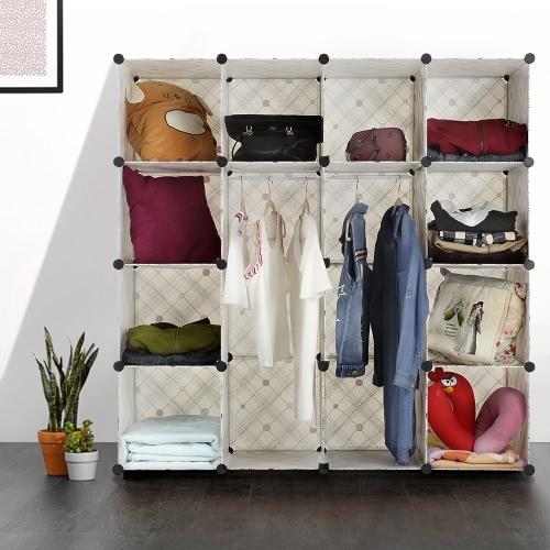 iKayaa Clothes Closet Wardrobe Cabinet Shoes Storage Organizer