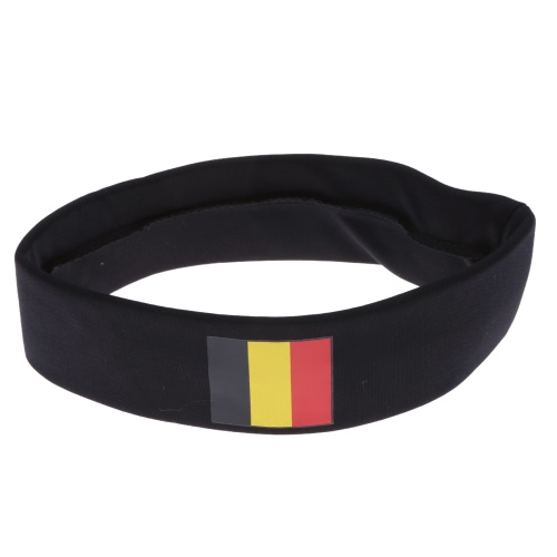 Anself Germany Flag Headband Head Band Sweatband Cheering Squad Football Soccer Sports Fans Headwear Carnival Festival Costume