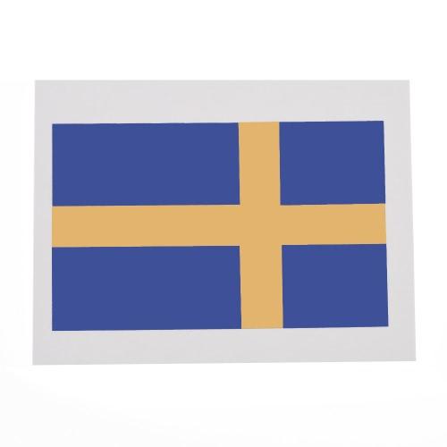 Anself 10шт/набор национального флага временные татуировки тела лица татуировки стикер отечественной татуировки 16 стран факультативного (Швеция)