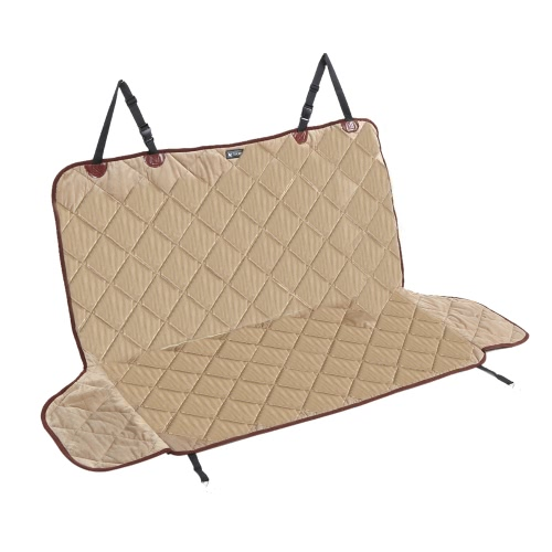 Luxury Water Resistant Non-skid Pet Backseat Cover Dog Cat Puppy Safety Rear Bench Seat Protector Quilted Mat for Cars