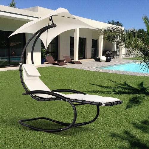 Chaise de salon chaise d'extérieur iKayaa Rocking Outdoor