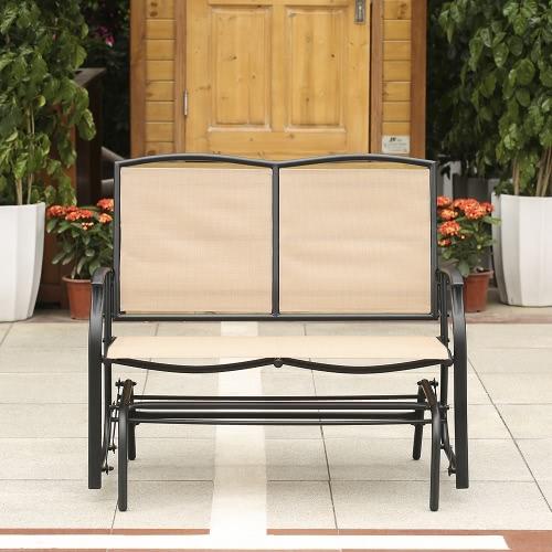 iKayaa 2 persona Patio sedia panca dell'oscillazione Glider