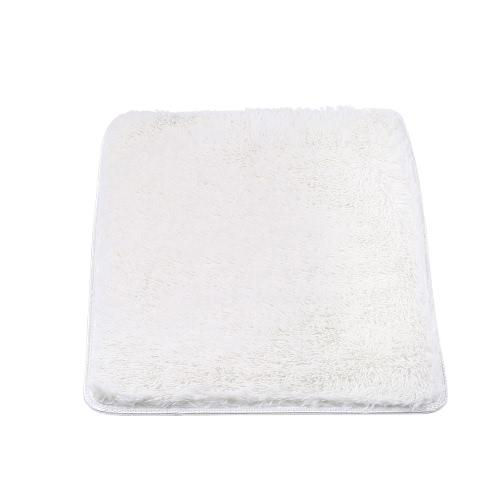 50 * 80cm Rectangulaire Doux Tapis de bain en peluche Doublure antidérapante Absorbant Shaggy Tapis de bain Bathmat Bath Tapis de toilette Gris