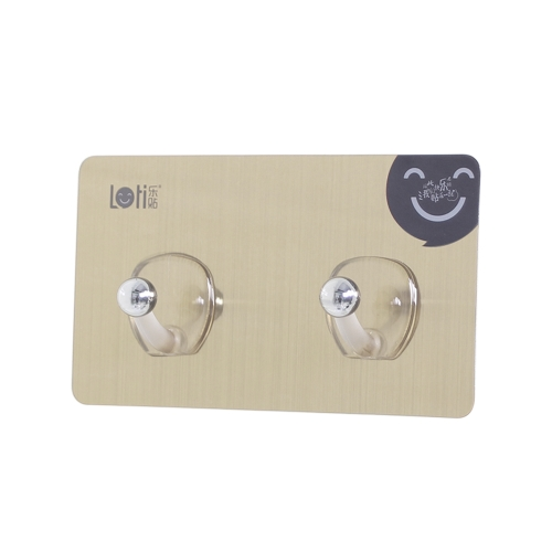 Traceless Hanger Kitchen Bathroom Cabinet Wall Hook Super Strong Bearing Self Adhesive Double Hooks Water-resistant Magic Hanger