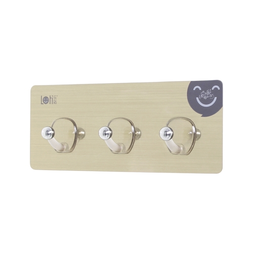 Traceless Hanger Kitchen Baño Gabinete Gancho de pared Super Strong Bearing Self Adhesive Triple Hooks Resistente al agua Magic Hanger