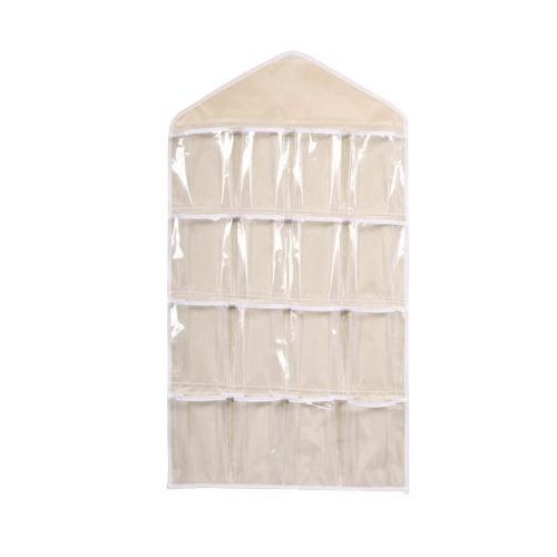 16 Rejilla Armario Colgante Organizador Ropa Interior Bras Calcetines Lazos Bolsa de Almacenamiento de Puerta
