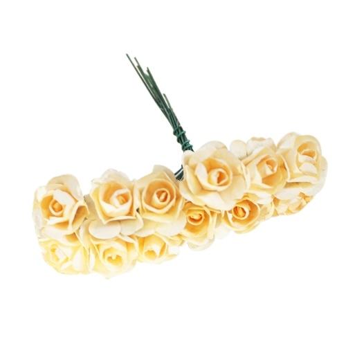 Flores de papel artificiais de 12pcs / grupo 2.5mm para as rosas falsificadas do carro do casamento usadas