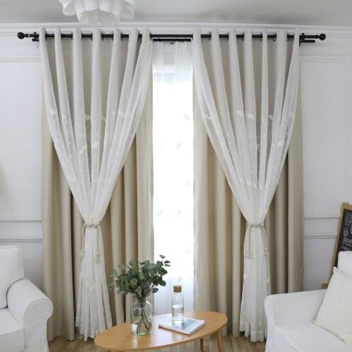 Moderne Vogel-Muster-Doppelschicht-Hauptmode-Fenster-dekorativer ...
