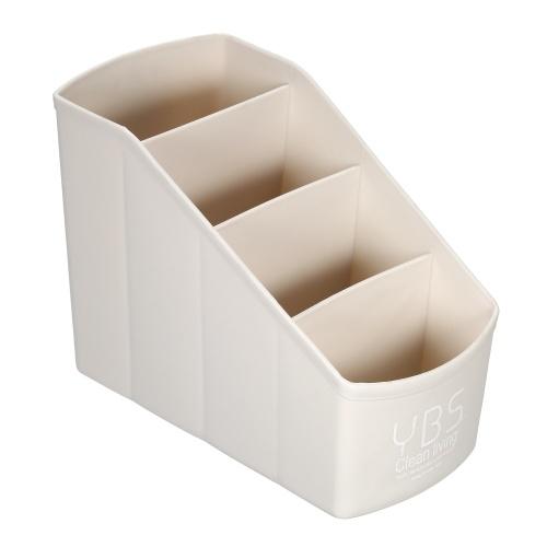 Caixa de arrumação multiusos de plástico com 4 compartimentos