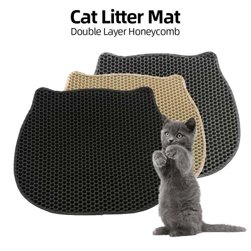 Tappetino per gatti Litter Tappetino per gatti Tappetino per trappola Design a doppio strato a nido d'ape per cat