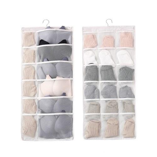 Duplo Sided Pendurado Closet Dual-Sided Hanging Organizer Saco De Armazenamento
