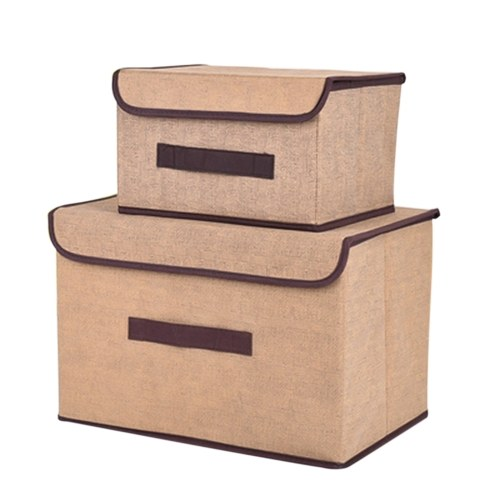 Caixas de arrumação não tecidas dobráveis Caixas de cestos