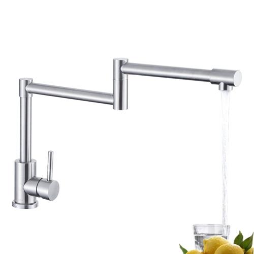 Grifos de cocina giratorios de 360 grados Grifos de lavabo de baño de una sola manija plegables