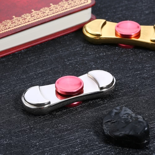 New Hot Mini Premium Metal Alloy Fidget Hand Finger Spinner Spin Widget Focus Toy EDC Pocket Desktoy Gift for ADHD Children Adults Relieve Stress Anxiety Boredom Lasting for 2 to 6 Minutes