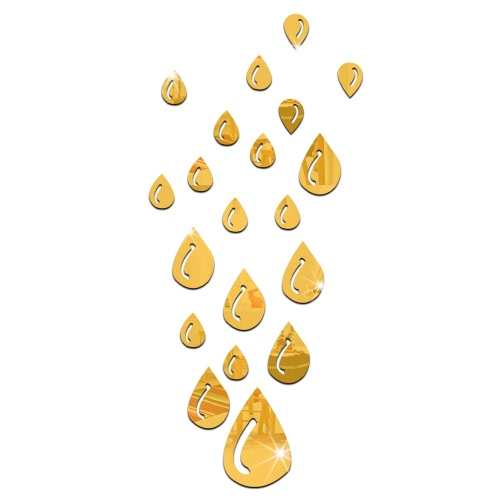 20PCS Hot Sale Modern Design Adhesive Waterdrop Raindrop Tear 3D DIY Wall Mirror For Room Bedroom Kitchen Bathroom Stick Decal Home Party Decoration Decor Art Mural Stickers