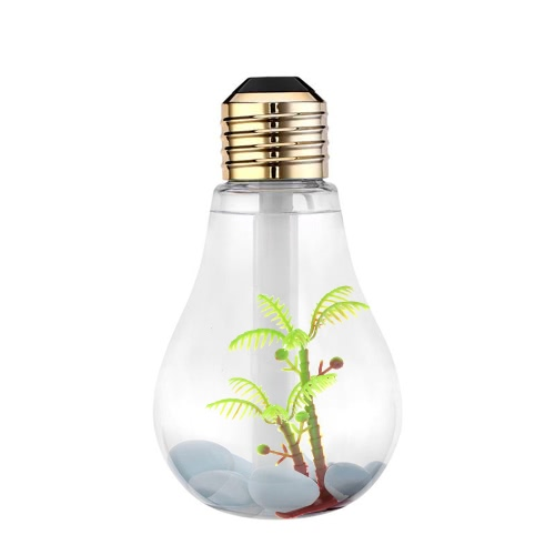 400ml Colorful Landscape LED Night Light Bulb USB Mini Humidificateur Micro pulvérisation Hydratant ménages bureau brume fraîche Maker Pulvérisateur ultrasonique Home Office 7 Couleur