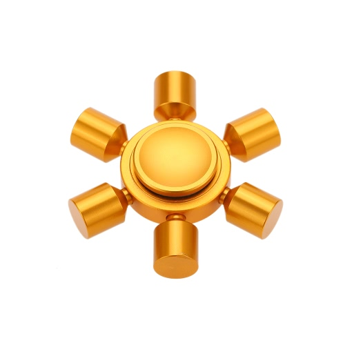 6 Arms Removable DIY Fidget Hand Finger Tri Stress Reducer Metal Spinner Spin Widget Focus Desk Toy for Fidgeters Anxiety Autism ADHD Focus Children Adults Gift