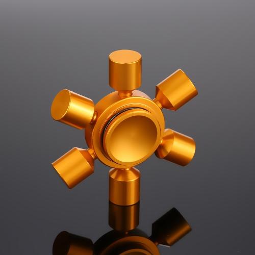 6 Arms Removable DIY Fidget Hand Finger Tri Stress Reducer Metal Spinner Spin Widget