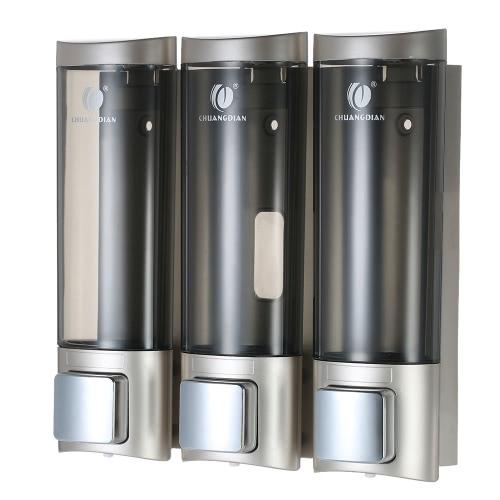 3 pezzi 200ml CHUANGDIAN Dispenser di sapone manuale da parete