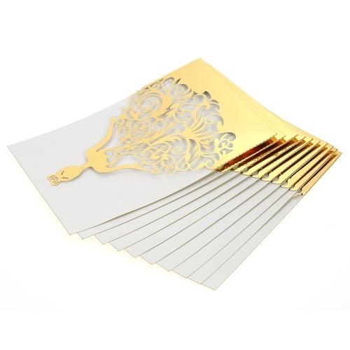 Papel da pérola dos cartões do convite do casamento de 20pcs / set