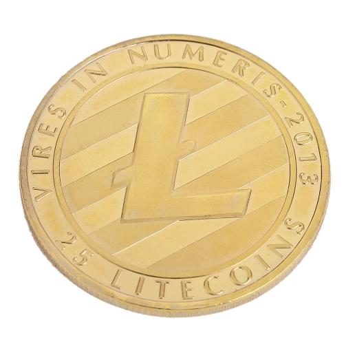 Silber vergoldet Münze Bitecoin Gedenkrunde geprägte Münze Souvenir Sammlung Aktivität Kunst Geschenk