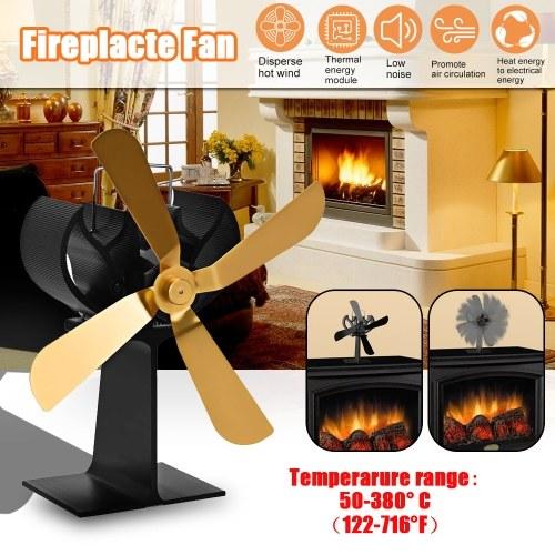 Ventilador de chimenea de 4 aspas Ventiladores de distribución de calor eficiente