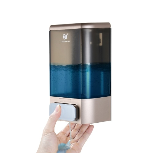 CHUANGDIAN 1000ml Dispensador de jabón manual Dispensador de jabón de caja de champú líquido montado en la pared