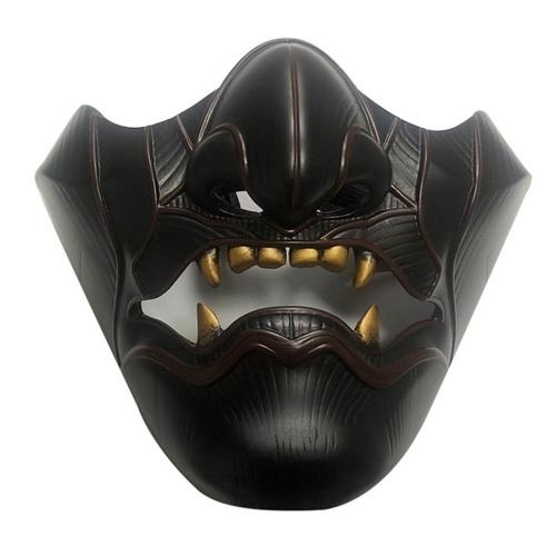 Máscara do espírito maligno do fantasma de Tsushima Máscara assustadora de Halloween