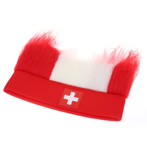 Anself America Flag Football Soccer Fans Wig Head Cap European Cup FIFA World Cup Sports Carnival Festival Cosplay Costume