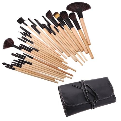 Древесина 32 шт макияж кисти набор профессиональной косметики make up набор + Сумка