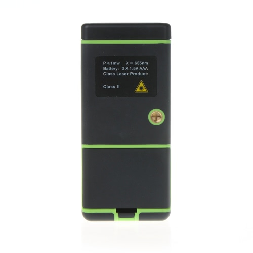 40m/131ft Handheld Laser Distance Meter Rangefinder Range Finder with Bubble Level Tape Measure