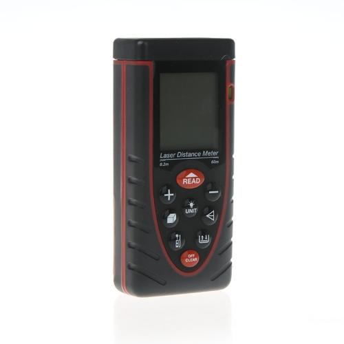 60m/197ft Handheld Laser Distance Meter Rangefinder Range Finder with Bubble Level Area Volume Measure