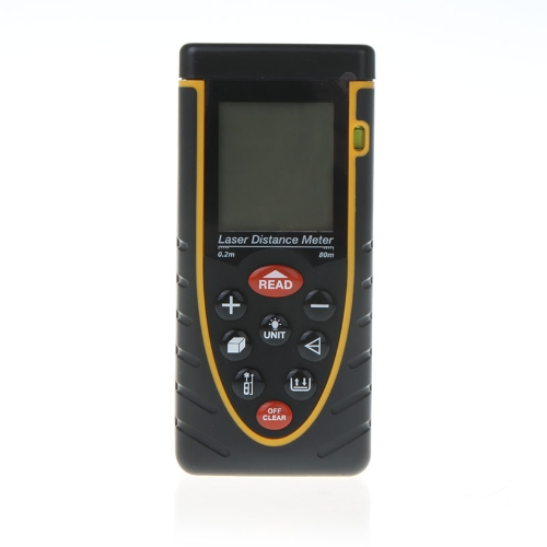 80m/262ft Handheld Laser Distance Meter Rangefinder Range Finder with Bubble Level Tape Measure Accuracy ±2mm