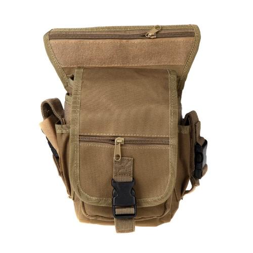 Drop Leg Bag Motorcycle Outdoor Bike Cycling Thigh Pack Waist Belt Tactical Bag Multi-purpose Earth
