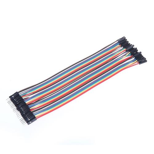 40szt 20cm 2.54mm mężczyzn do kobiet Dupont przewód połączeniowy Kabel do Arduino Breadboard