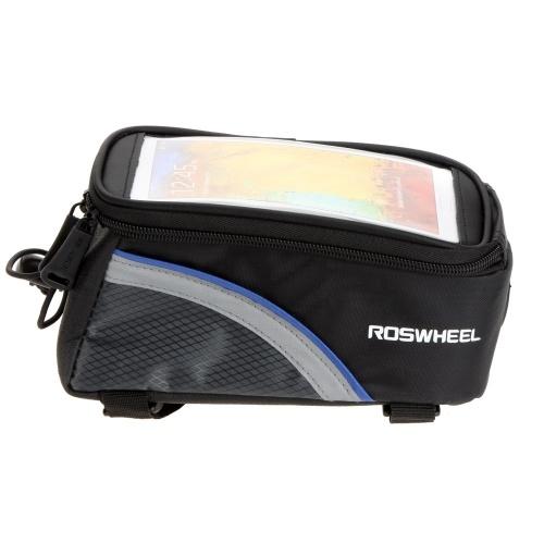 Roswheel bicicletta biciclette telaio tubo anteriore Bag in PVC trasparente con linea di estensione Audio per 5,5